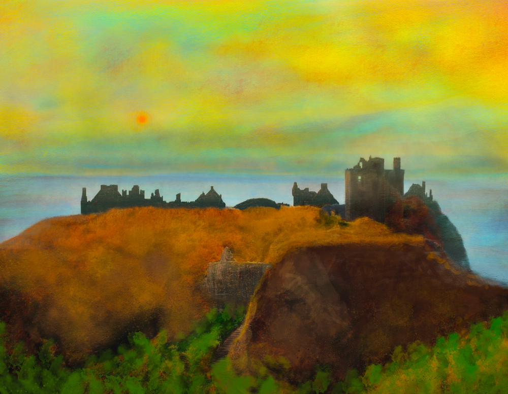 Dunnottar-Castle-Scottish-Paintings-Prints-Commission-Art-Gifts-Scotland