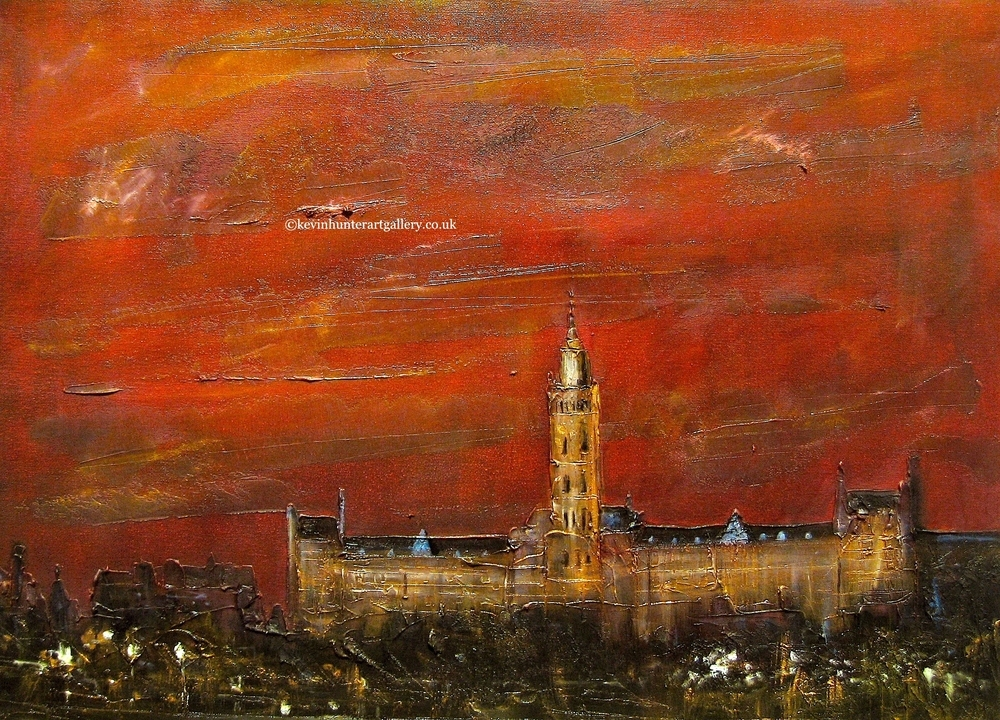 painting-print-glasgow-university-cityscape-scotland-for-sale