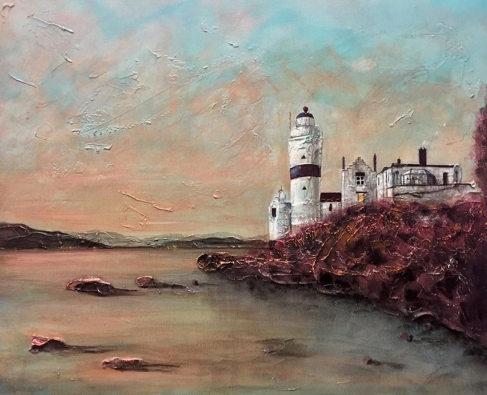 Cloch-Lighthouse-Dawn-Paintings-Prints-Scotland