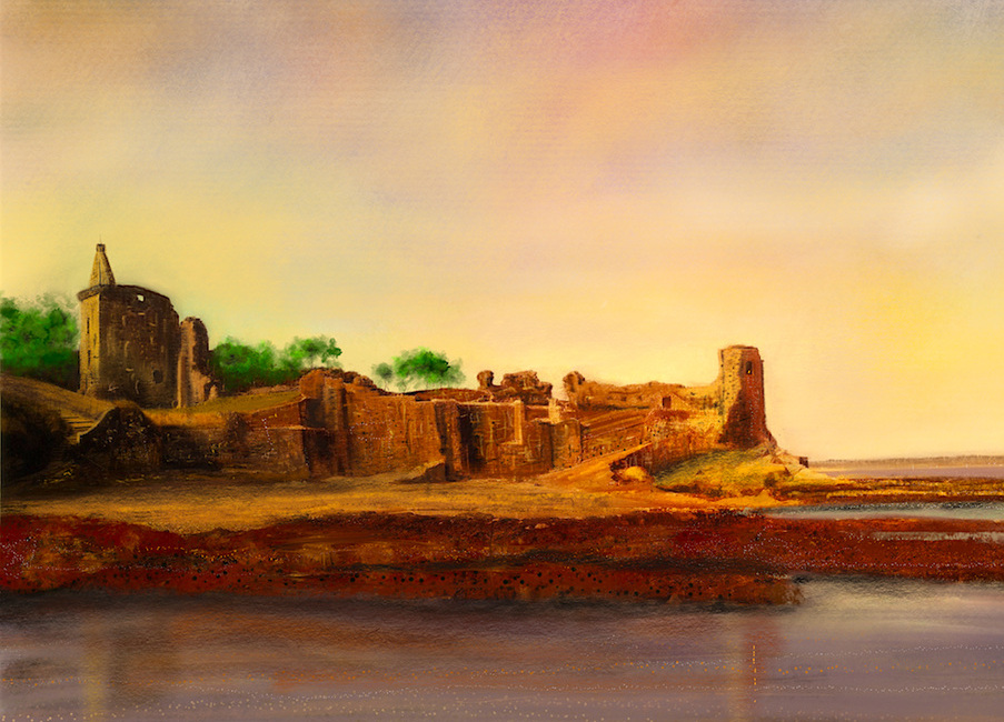 St-Andrews-Castle-Scottish-Paintings-Prints-Commission-Art-Gifts-Scotland