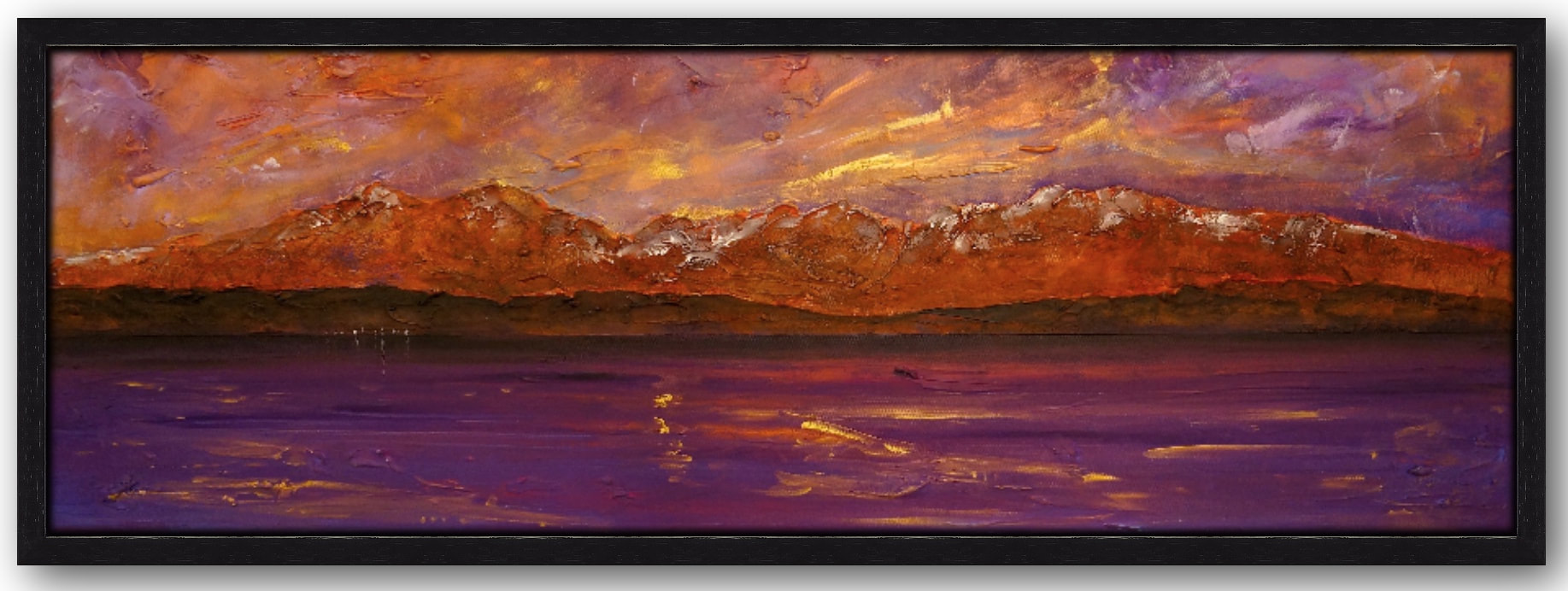 arran dusk panoramic floating limited edition canvas prints of