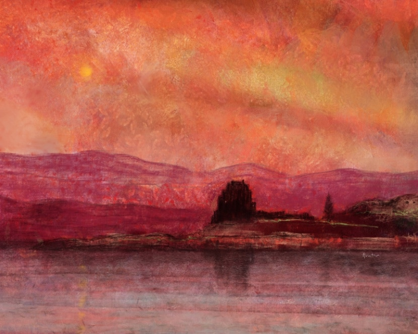 duart-castle-sunset-mull-scottish-art-paintings-prints-scotland