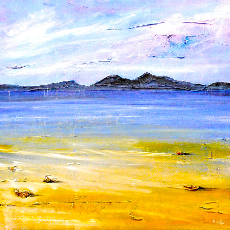 Paintings And Prints Of Camusdarach Beach Arisaig Scotland By Scottish Atmospheric Landscape Artist Kevin Hunter